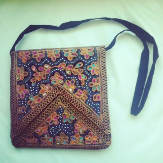 ~ A fabulous bohemian find: Embellished messenger bag (made in Pakistan) ~