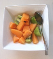 ~ My fruit obsession at the moment… Kiwi & Cantaloupe. ~