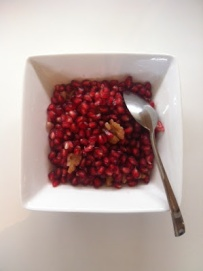 ~ Pomegranates & Walnuts…A yummy morning snack. ~