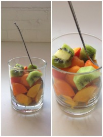 ~ Who said you cant eat your fruit out of a glass cup. ~