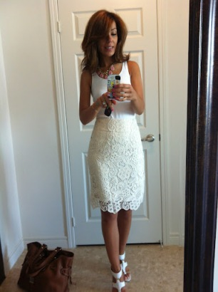 ~ White with cream lace? Yes please ~