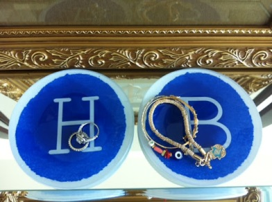 ~ I have a little of an obsession with monogram trinkets. Picked these up from my favorite store west elm. ~