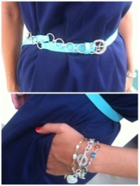 ~ Navy & Turquoise outfit detail ~