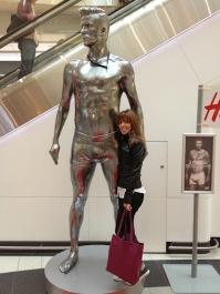 ~ Posing with David Beckham ~