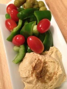 ~ Hummus & veggies make a great snack ~