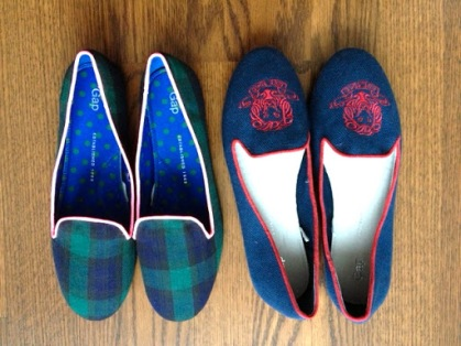 ~ Tartan & Embroidered slippers that were a great find from GAP ~