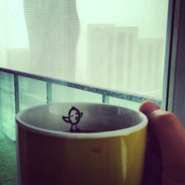~ Snow day & cup of coffee go hand in hand ~