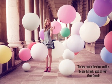 ~ Quote from the queen of fashion Coco Chanel ~