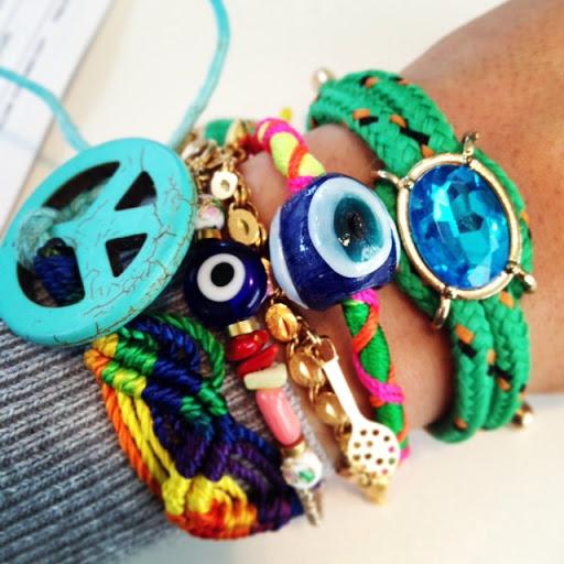 "My Friendship bracelet ""arm party"""