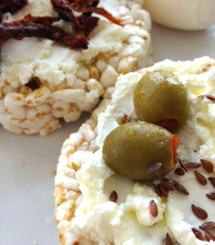 ~ Current snack obsession: GF rice crackers with Labni... Delicious ~