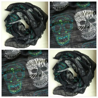 ~ Sugar skull scarf giveaway on till May 20. ~