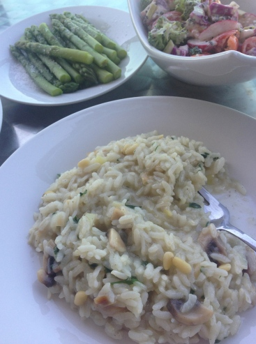 ~ Made delicious mushroom & pine nut risotto ~