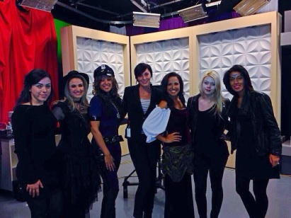 ~ A quick pic with some of the hosts from Todays Talk Halloween segment ~