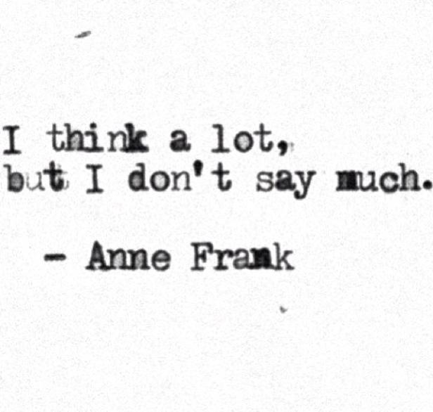 ~ I think a lot... ~