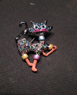 ~ Adore this cat brooch my wonder mother-in-law gifted me ~