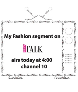 ~ My first TV appearance I got to talk about Coconut Lace & Fashion ~
