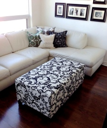 ~ Reupholstered Ottoman for a statement piece ~