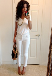 ~ All white look earlier this week~