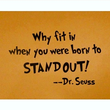 ~ Why fit in... ~