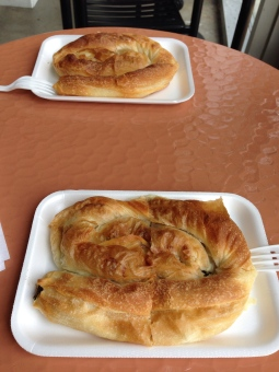 ~ These ultra thin pastry stuffed with spinach and cheese are divine ~