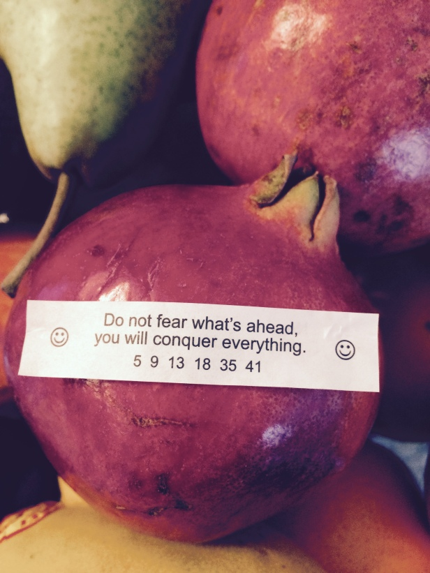 ~ Fortune cookie note ~
